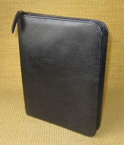 Classic 1 125 Rings Great Black Leather Franklin Covey quest Planner binder