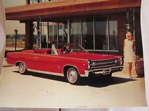 1967 Amc Rambler Ambassador Convertible Factory Photo