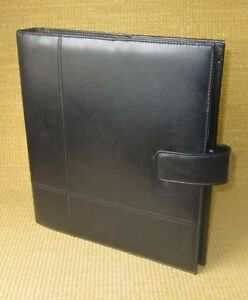 Monarch folio 1 25 Rings Black Sim Leather Franklin Covey Open Planner binder
