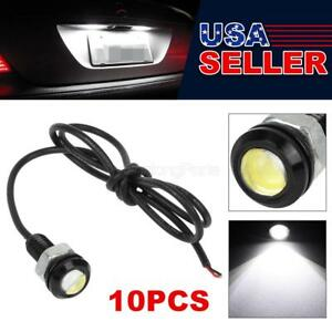 10x Universal Ultra White Led Grille License Plate Light Lamp Screw Bolt On 12v