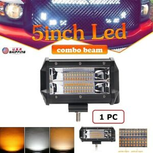 672w 5 Inch Led Work Light Bar Flood Combo Pods Driving Off Road Tractor 4wd 12v