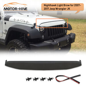 Undercover Nighthawk Light Brow Angry Front Grille Look For Jeep Wrangler Jk