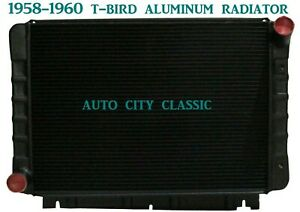 Ford Thunderbird T bird Black Radiator Aluminum 1958 1959 1960