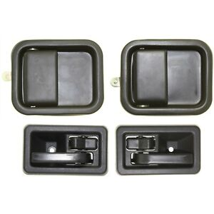 Interior And Exterior Door Handle Kit Front Lh And Rh Side For Jeep Wrangler