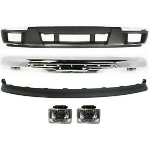 New Chrome Front Bumper Valance Kit W Fog Lights For 2004 2012 Chevy Colorado