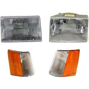 Corner Light Headlight For 93 96 Jeep Grand Cherokee Kit Left And Right Side