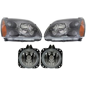 Headlight Kit For 2004 2008 Mitsubishi Galant Left And Right 4pc