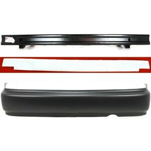 Bumper Cover Kit For 96 98 Civic Rear Bumper Absorber Cover Reinforcement 3pc