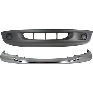 Bumper Cover Kit For 97 2000 Dodge Dakota For Models With 2 piece Bumper 2pc