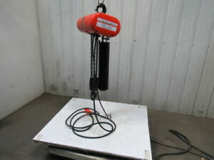 Cm Lodestar Model Rr 2 Ton 2hp Electric Chain Hoist 230 460v 3ph 20 Lift 16fpm