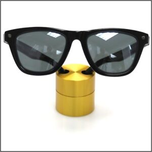 Optical Display Small Premium Solid Aluminum Cylinder Gold