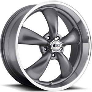 Rev Classic 100 5 Rally Wheel Gray Wheels 15x7s Or 15x8s Chevy 15 Musclecar Rim