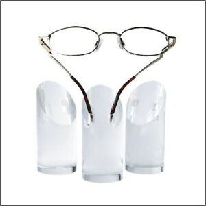 Optical Display Cylindrical Acrylic Eyeglass Display Mini Towers set Of 3