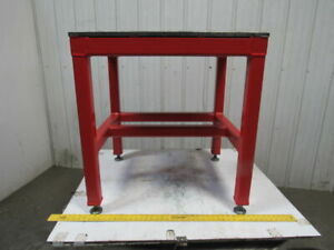 H d 3 4 Thick Top Steel Machine Base Welding Table Work Bench 32 X 28