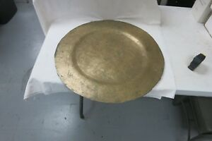 Vintage Chinese Bronze Gong Oriental Dragons Budhist Vintage 24 X 24 Signed