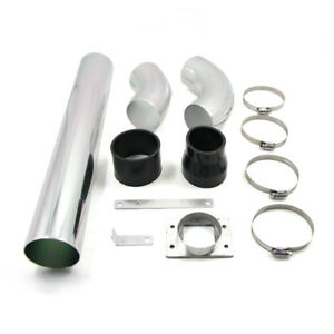 Universal 76mm 3 Car High Flow Cold Air Intake Pipe System Fuel Saver R4t1