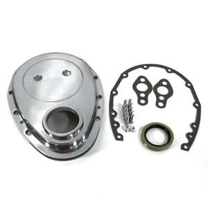 Bandit Engine Timing Cover 6040kit Polished Aluminum For Chevy 283 350 Sbc