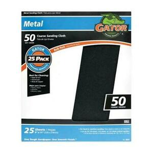 Gatorgrit 4247 50 Grit Emery Cloth Sanding Sheets Pack Of 25