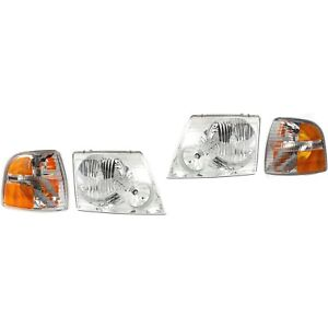 Headlight Kit For 2004 2005 Ford Explorer Left And Right 4pc