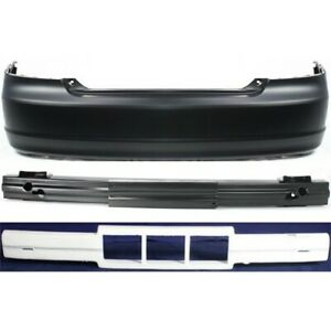 Bumper Cover Kit For 2001 2003 Honda Civic Rear 2 door Coupe 3pc