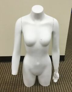 Mannequin Female White Color Torso 35 Height Missing Hand Local Pickup