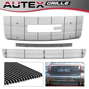 Fits 2007 2013 Gmc Sierra 1500 Billet Grille Grill Combo Inserts Polished