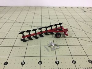 1 64 Metal 8 Bottom Red Roll over Plow W 3 Point Hitch By C d Models