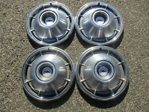 Genuine 1966 Chevy Impala Bel Air 14 Inch Hubcaps Wheel Covers Set