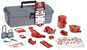 Brand New Brady Lockout Tool Box W components 1 Kit