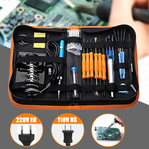 Adjustable Temperature 110v 220v 60w Welding Soldering Weller Iron Tool Kit