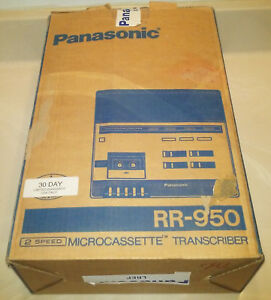 Panasonic Rr 950 Microcassette Transcriber In Original Box With Footpedal Look