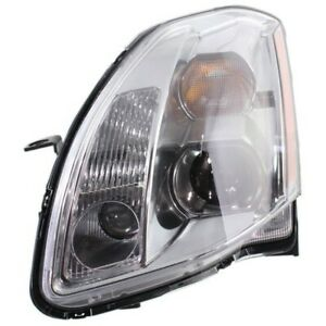 Headlight For 2005 2006 Nissan Maxima Se Sl Models Left Hid With Bulb