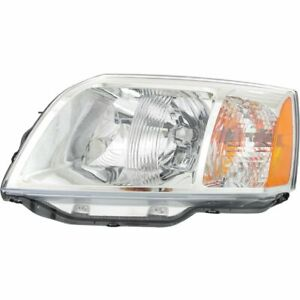 Headlight For 2004 2008 Mitsubishi Endeavor Left With Bulb Clear Lens Capa