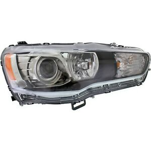 Headlight For 2008 2015 Mitsubishi Lancer Right Hid With Bulb
