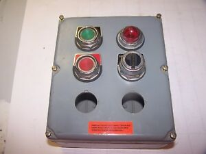 Square D Ky 6 Control Station 2 Pushbuttons 1 Pilot Light 1 Selector Switch