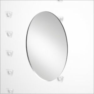Optical Display Smart System Small Oval Mirror With Bracket