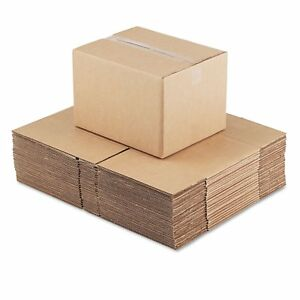General Supply Brown Corrugated Fixed depth Shipping Boxes 15 inch Long X