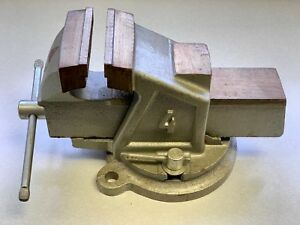 Schulz Bench Vise 4 Jaw With Anvil And Locking Swivel Base