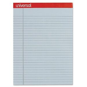 Universal Colored Perforated Note Pads 8 1 2 X 11 Blue 50 sheet box Of 12