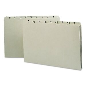 Smead Recycled Top Tab File Guides Alpha 1 5 Tab Pressboard Legal box Of 25