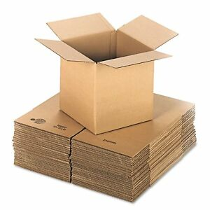 General Supply Brown Corrugated Cubed Fixed depth Shipping Boxes 12l X 12 inch