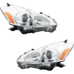 Headlight Set For 2012 2013 2014 Toyota Prius V Left And Right 2pc