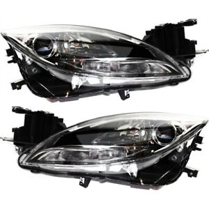 Headlight Set For 2012 2013 Mazda 6 S Gt Gs I Models Left And Right Capa 2pc
