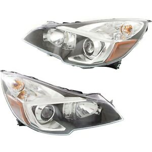 Headlight For 2013 2014 Subaru Outback Pair Lh And Rh Black Capa