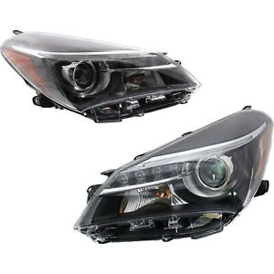 Headlight Set For 2015 2017 Toyota Yaris Se Model Hatchback Left And Right 2pc