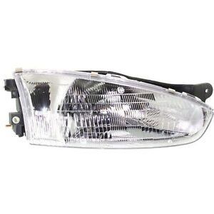 Headlight For 97 98 99 2000 2001 2002 Mitsubishi Mirage Right With Bulb