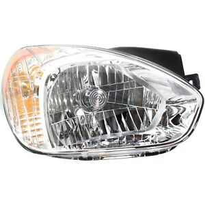 Headlight For 2007 2011 Hyundai Accent Right With Bulb Halogen Composite Type