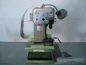 Nippon Tanshi Acm 11a Table Top Crimping Unit 1 5 Ton T9510