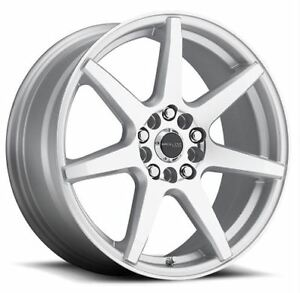 16x7 Raceline 131s Evo 5x108 5x114 3 Et20 Silver Machined Wheels Set Of 4