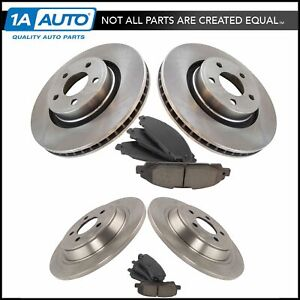 Front Rear Posi Ceramic Disc Brake Pad Rotor Kit For Ford Mustang New